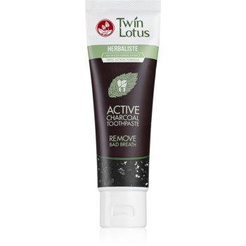Twin Lotus Herbaliste Active Charcoal pastã de din?i cu extract din plante fara flor imagine produs