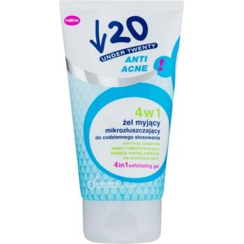 Under Twenty ANTI! ACNE gel de curatare, peeling si masca 3 in 1  150 ml