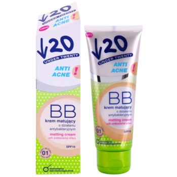 Under Twenty ANTI! ACNE creme matificante BB com efeito antibacteriano SPF 10 1