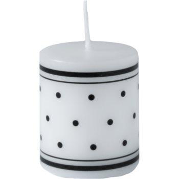 Unipar Retro White Decore Candle   (Pillar 70 - 150)