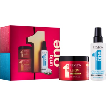 Uniq One All In One Lotus Flower Hair Treatment set cosmetice V.