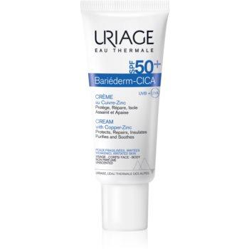 Uriage Bariéderm Cica cremă reparatoare cu cupru și zinc SPF 50+