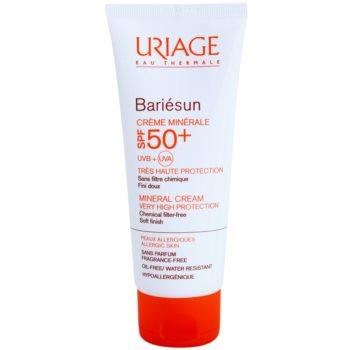 Fotografie Uriage Bariésun minerální ochranný krém na obličej a tělo SPF50+ voděodolný 100 ml