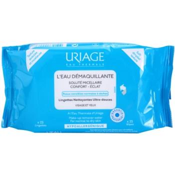 Fotografie Uriage Hygiène odličovací ubrousky pro normální a suchou pleť 25 ks