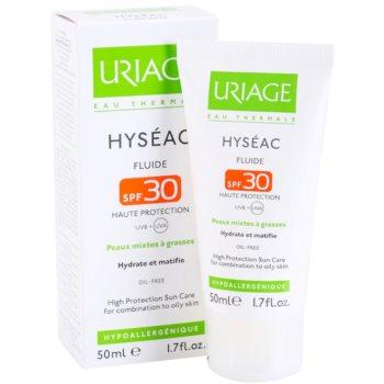 Uriage Hyséac матуючий флюїд із зволожуючим ефектом SPF 30 1