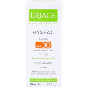 Uriage Hyséac матуючий флюїд із зволожуючим ефектом SPF 30 3
