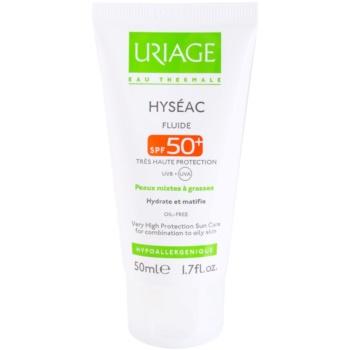 Uriage Hyséac matirajoči fluid z vlažilnim učinkom SPF 50+