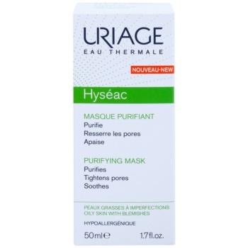 Uriage Hyséac почистваща и успокояваща маска за лице за стягане на порите 2