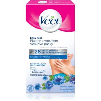Veet Easy-Gel benzi depilatoare cu cearã, pentru axile pentru piele sensibila imagine produs