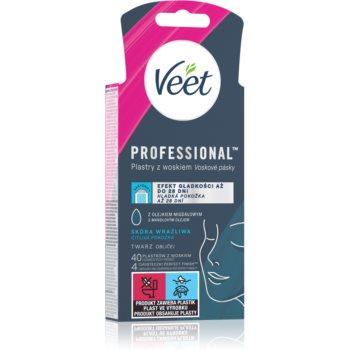 Veet Easy-Gel benzi depilatoare cu ceara rece facial imagine produs