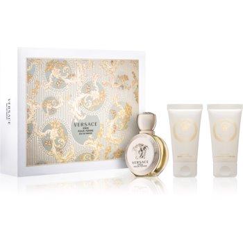 Versace Eros Pour Femme dárková sada I. parfémovaná voda 50 ml + sprchový gel 50 ml + tělové mléko 50 ml