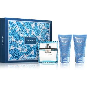 Versace Man Eau Fraîche dárková sada IV. toaletní voda 50 ml + sprchový gel 50 ml + balzám po holení 50 ml