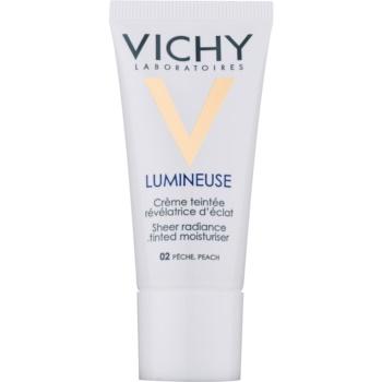 Fotografie Vichy Lumineuse rozjasňující tónovací krém pro suchou pleť odstín 02 Peach/Peche 30 ml