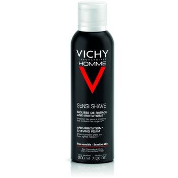 Fotografie Vichy Homme Anti-Irritation pěna na holení pro citlivou a podrážděnou pleť 200 ml