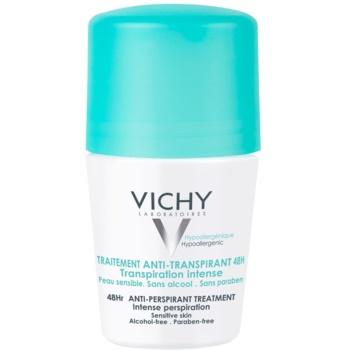 Vichy Deodorant antiperspirant roll-on impotriva transpiratiei excesive 48h  50 ml