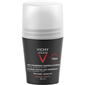Vichy Homme Deodorant antiperspirant roll-on impotriva transpiratiei excesive 72h  50 ml