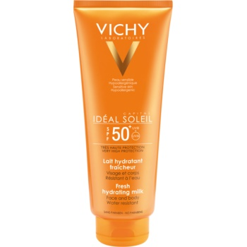 Fotografie Vichy Idéal Soleil Capital ochranné mléko na tělo a obličej SPF 50+ 300 ml
