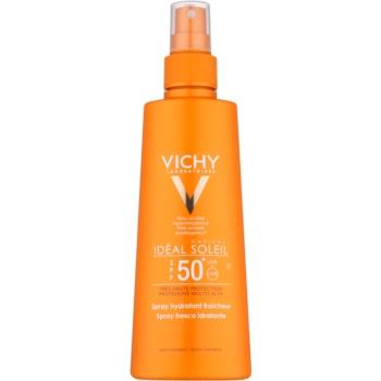 Vichy Idéal Soleil Capital spray de protecție cu efect de hidratare SPF 50+
