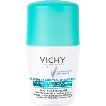 Vichy Deodorant antiperspirant roll-on impotriva petelor albe si galbene