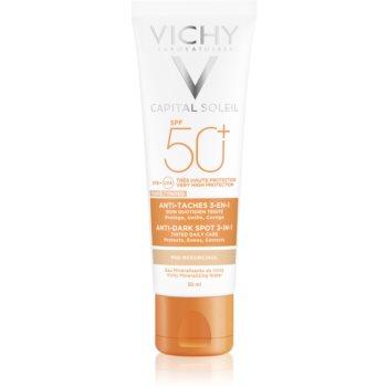 Vichy Capital Soleil cremă colorantă împotriva petelor pigmentare 3 în 1 SPF 50+