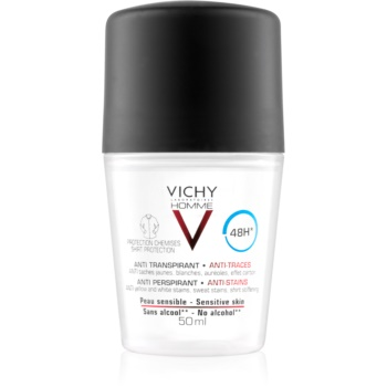 Vichy Homme Deodorant deodorant roll-on proti bílým a žlutým skvrnám 48h 50 ml