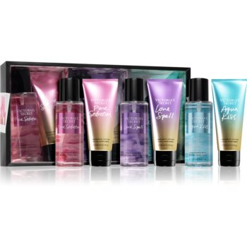Victoria's Secret Multi Set Pure Seduction parfémovaný tělový sprej 125 ml + Pure Seduction, Love Spell, Aqua Kiss tělové mléko 3x100 ml