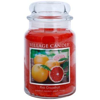 Village Candle Pink Grapefruit ароматна свещ   голяма