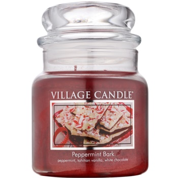 Village Candle Peppermint Bark Scented Candle  Medium