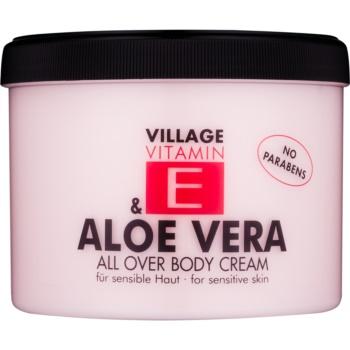 Village Vitamin E Aloe Vera crema de corp  500 ml