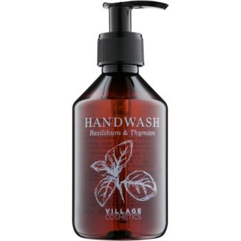 Village Herbal Basil & Thyme Săpun lichid pentru mâini  250 ml