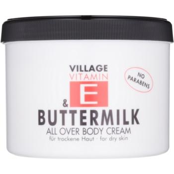 Village Vitamin E Buttermilk crema de corp fără parabeni  500 ml