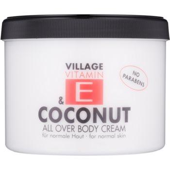 Village Vitamin E Coconut crema de corp fără parabeni  500 ml