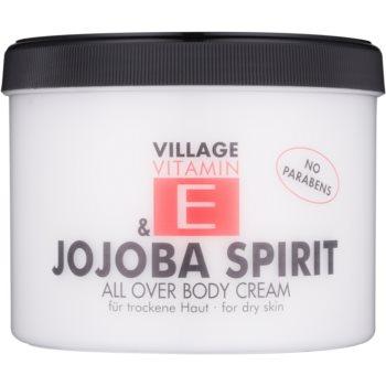 Village Vitamin E Jojoba Spirit crema de corp fără parabeni  500 ml