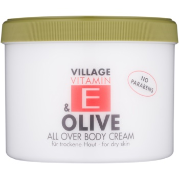 Village Vitamin E Olive crema de corp fără parabeni  500 ml