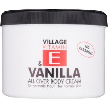 Village Vitamin E Vanilla crema de corp fără parabeni  500 ml