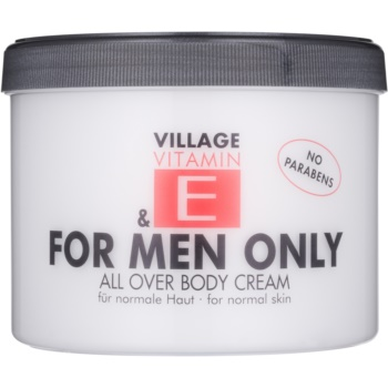 Village Vitamin E For Men Only crema de corp fără parabeni