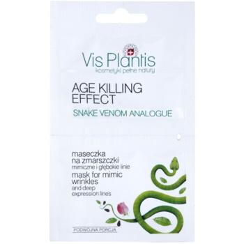 Vis Plantis Age Killing Effect masca pentru fata cu efect de anti-imbatrinire cu venin de sarpe  2 x 5 ml