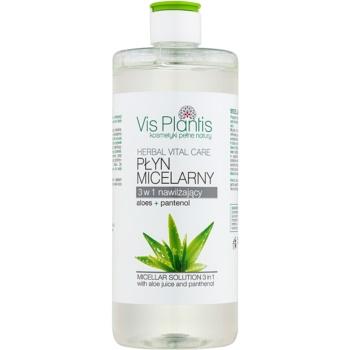 Vis Plantis Herbal Vital Care apa cu particule micele 3 in 1 suc de aloe și pantenol  500 ml