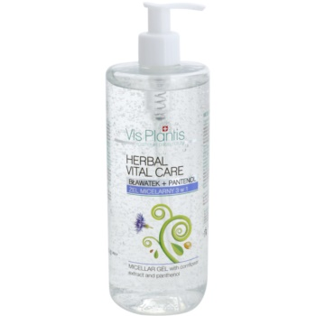 Vis Plantis Herbal Vital Care gel micelar 3 in 1 cu extract de albastrele și pantenol  500 ml