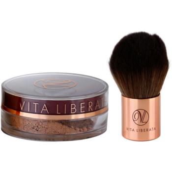 Vita Liberata Trystal Minerals pudra  bronzanta cu pensula 01 Sunkissed 2 buc