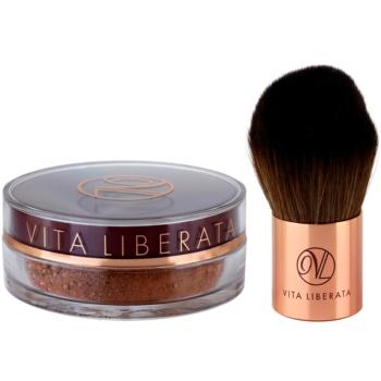 Vita Liberata Trystal Minerals pudra  bronzanta cu pensula 02 Bronze 2 buc
