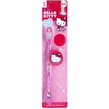 VitalCare Hello Kitty periuta de dinti pentru copii cu capac, pentru calatorie Soft