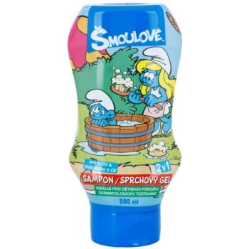 VitalCare The Smurfs Gel de dus si sampon pentru copii 2 in 1  500 ml