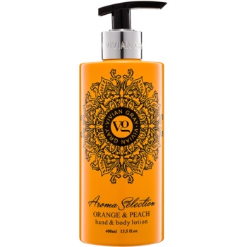Vivian Gray Aroma Selection Orange & Peach Lapte de mâini și de corp  400 ml