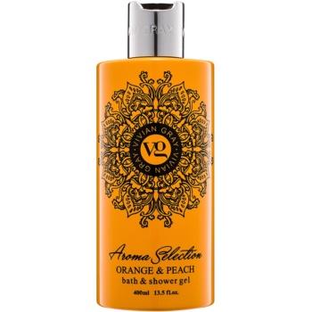 Vivian Gray Aroma Selection Orange & Peach gel de dus si baie  400 ml