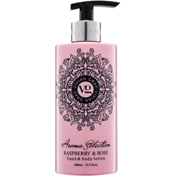 Vivian Gray Aroma Selection Raspberry & Rose Lapte de mâini și de corp  400 ml