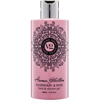 Vivian Gray Aroma Selection Raspberry & Rose gel de dus si baie  400 ml