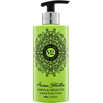 Vivian Gray Aroma Selection Lemon & Green Tea Lapte de mâini și de corp  400 ml