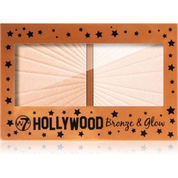 W7 Cosmetics Hollywood autobronzant ?i iluminator imagine produs