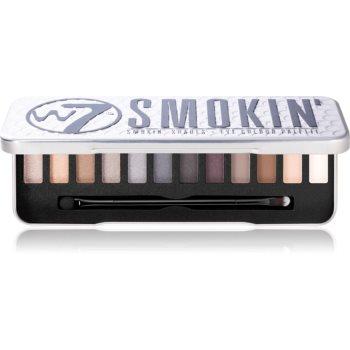 W7 Cosmetics Smokin paletă cu farduri de ochi